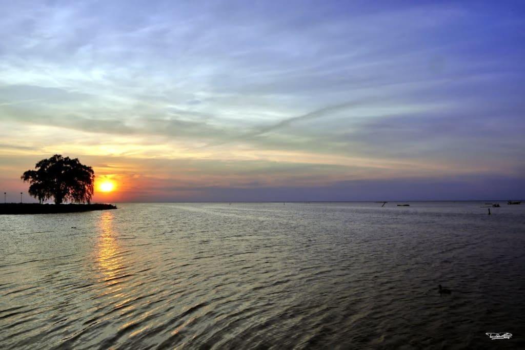Beautiful Sunset on Lake St. Clair