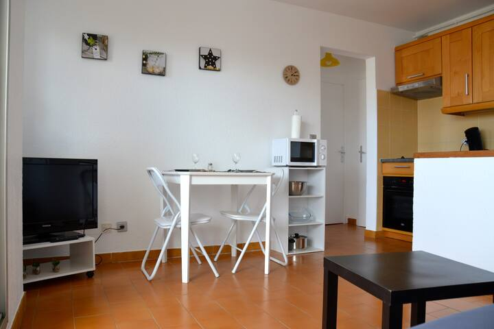 Appartement avec 1 chb séparée, vue sur la marina - Canet-en-Roussillon - Daire