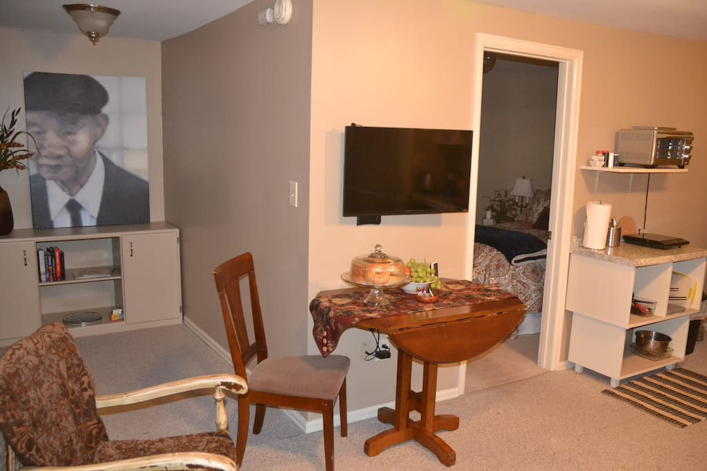 Dining area and part of kitchenette