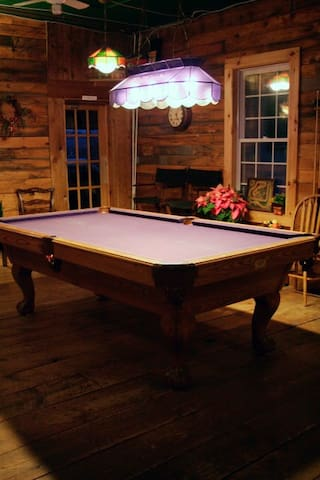 Pool table in the Great Room.