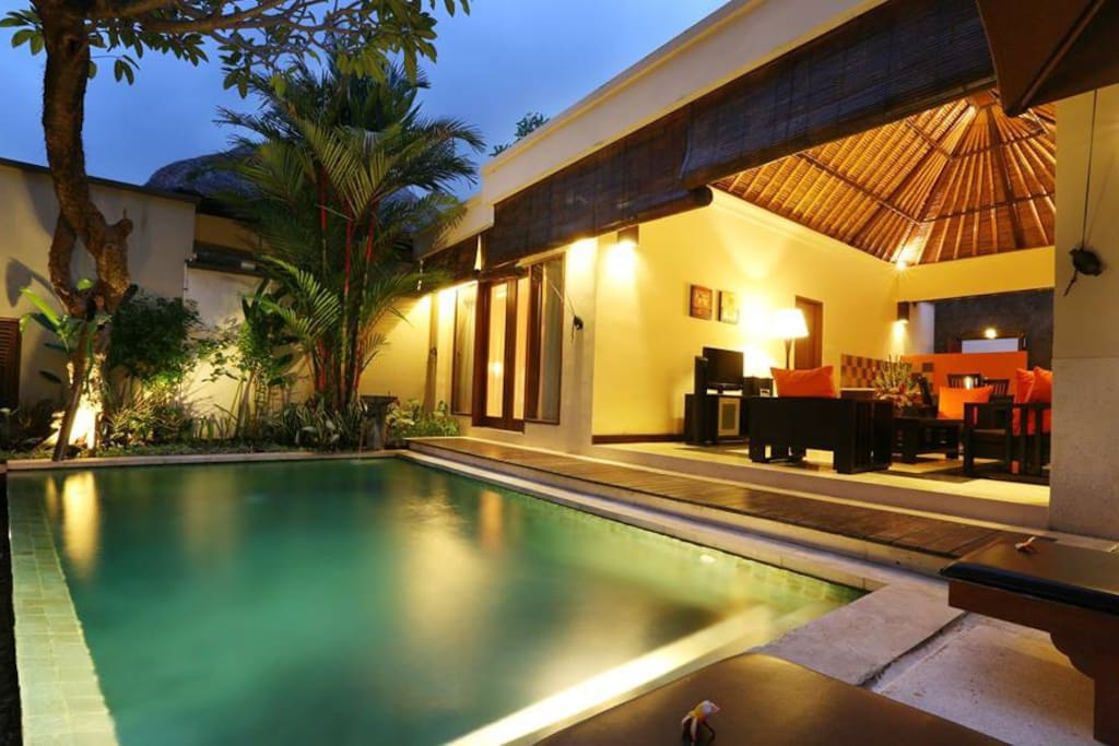 Living Area and Pool
