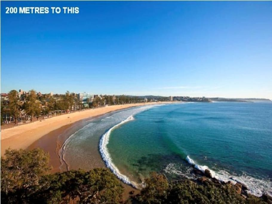 Just 200 metres to the beach and a five min walk to the ferry to Sydney CBD