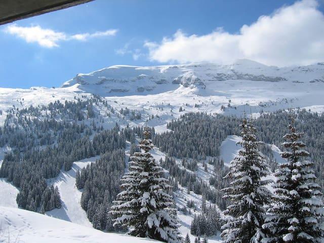Ski: Appartement T2 50m2 + Terrasse - Flaine - Apartemen