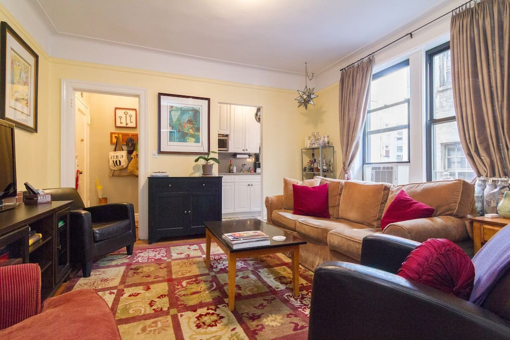 Apartment is clean, tidy, and has a cozy feeling - though not at all small or crowded, a BIG BONUS for NYC!