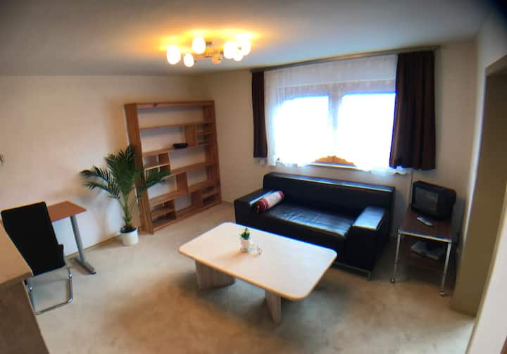 Furnished house 62qm with garden, next to station
