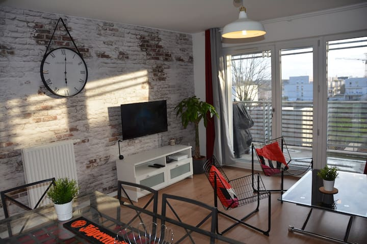 Appartement Style Loft Industriel