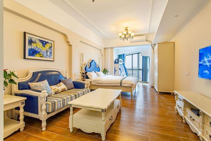 北海银滩海景一室舒适公寓