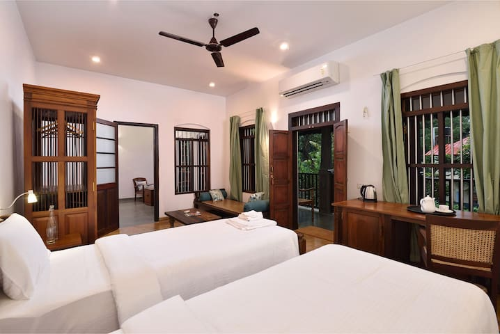 Twin Beds setup in bedroom 2