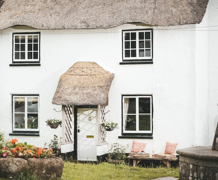 Luxury thatched Devon cottage for 2