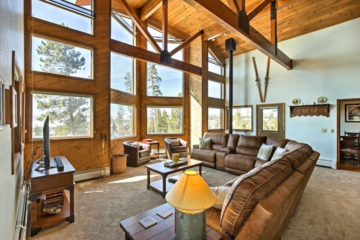Take in spectacular views of Lake Granby and the Continental Divide.