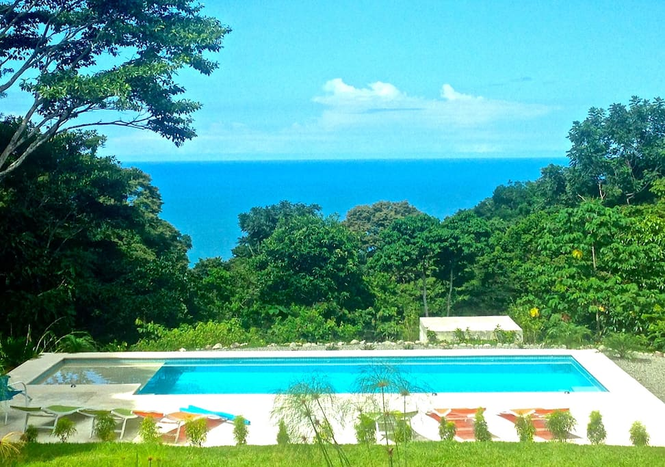 Each cabina has a fantastic view of the ocean, pool and surrounding jungle!