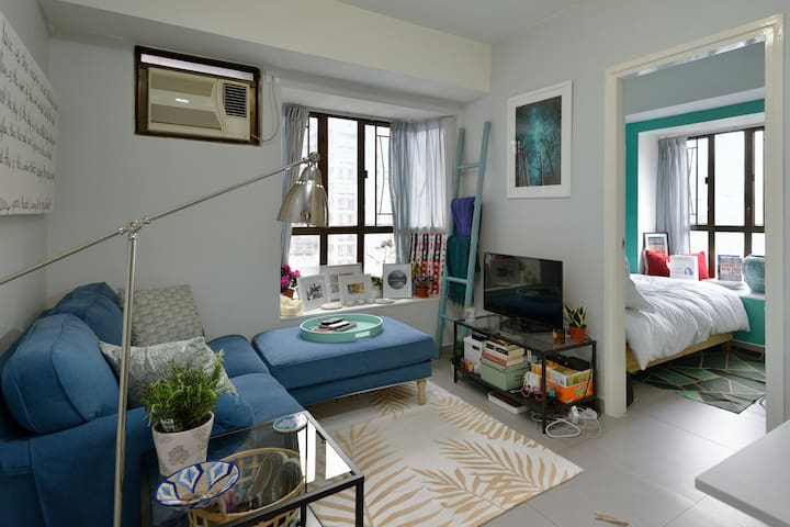 Comfortable and Bright 1BR in heart of SOHO - Hong Kong - Apartamento