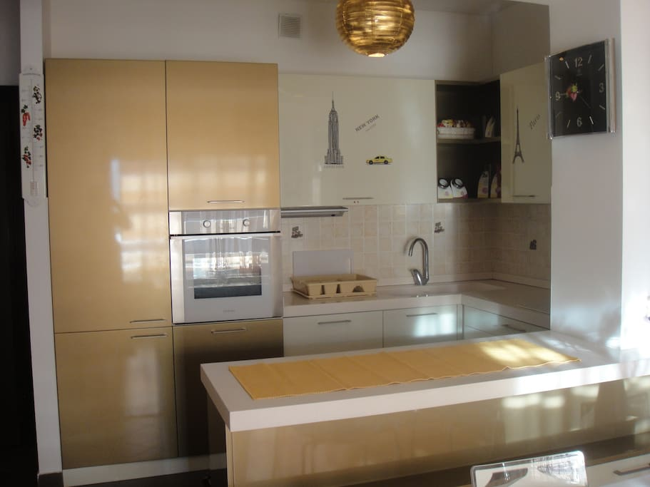 The kitchen is comfortable and equipped