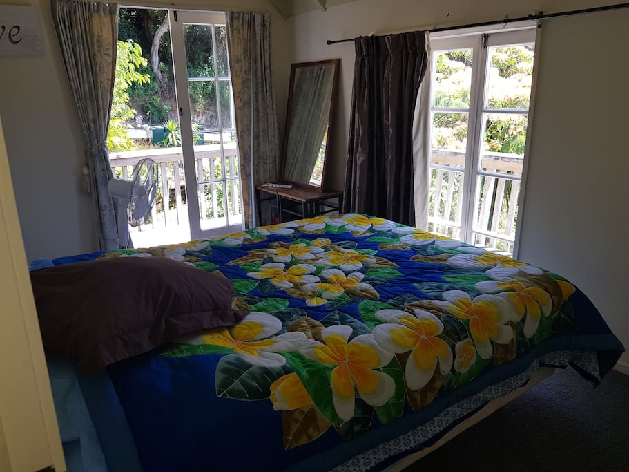 Guest room. Double or two single beds.