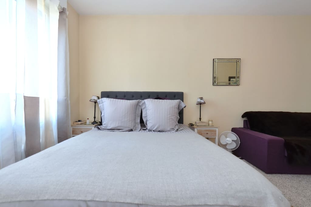 Confortable and very luminous room with a large bed