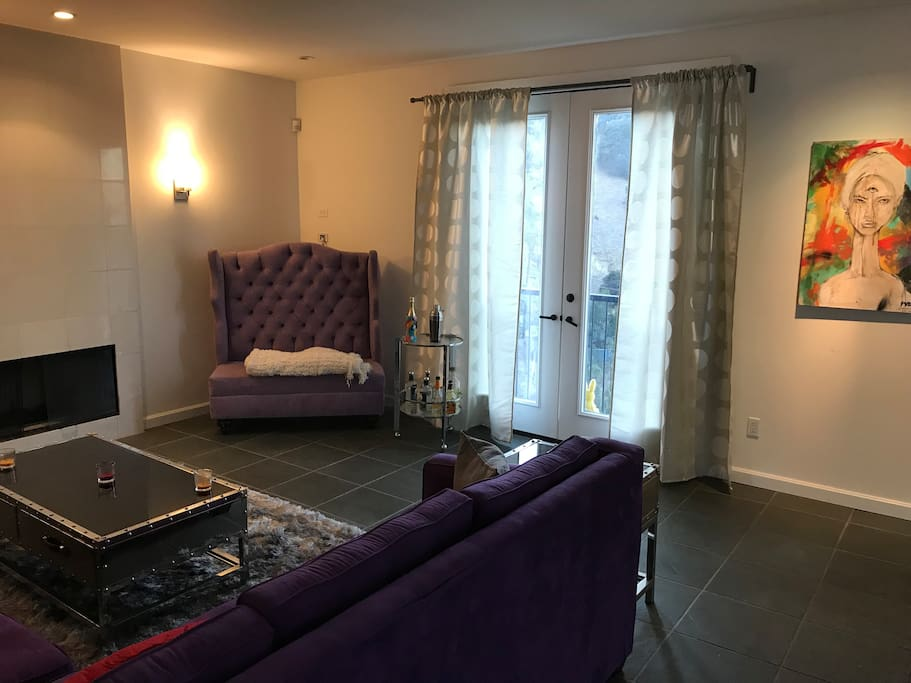 Purple Room with Patio View