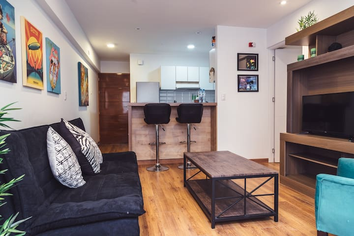 New apartment in the bohemian district of Barranco