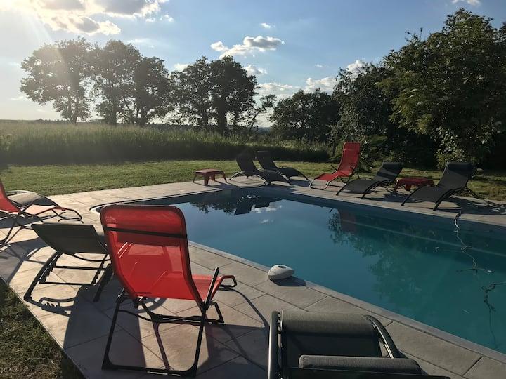 Maison 12/14 pers au sud de TOULOUSE avec piscine