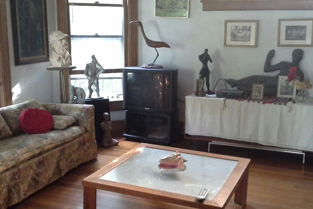 Guests can use use the living room with TV next door