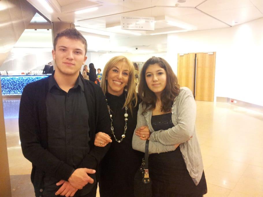 Io e i miei ragazzi, Emanuele e Beatrice, affidabilissimi collaboratori