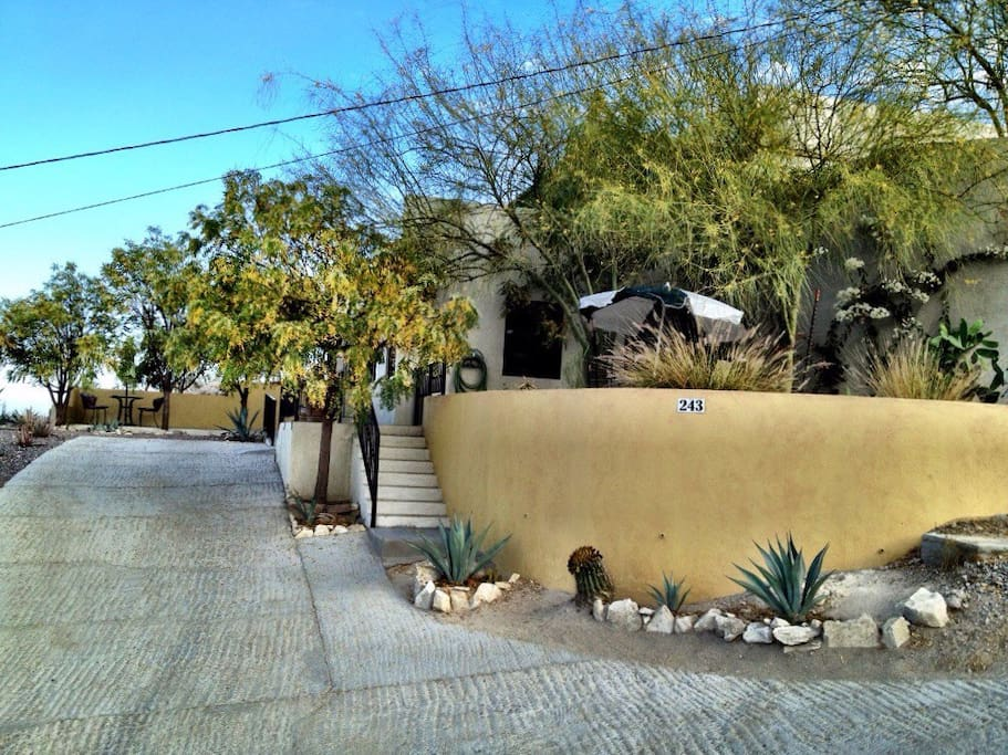 Dedicated Driveway & Front of Casita Apartment w/wheelchair ramp