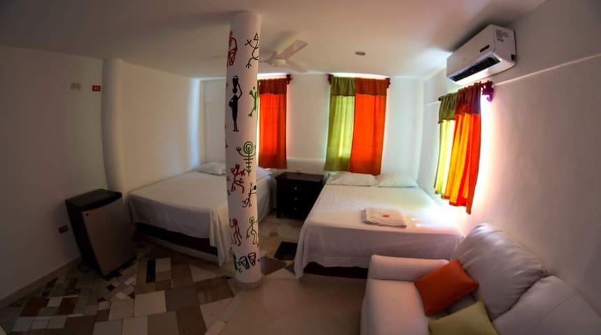 Hotel Buen Hombre - Habitacion con cama doble