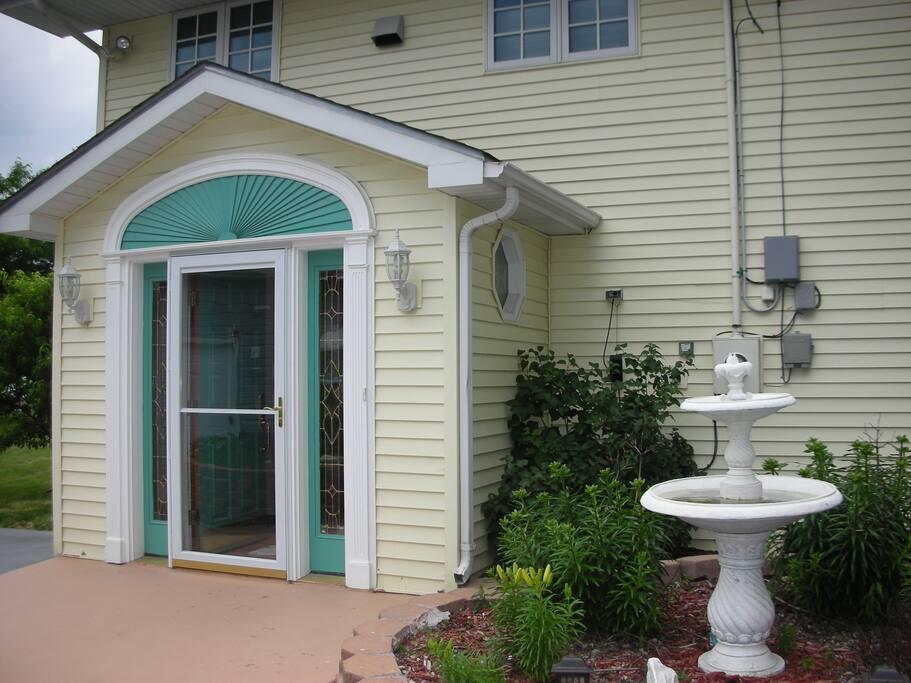 Front Door toward street