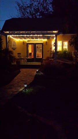 Enjoy the evening under holiday LED lights