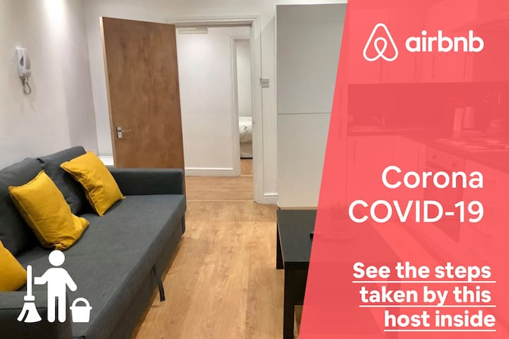 NEW smart & modern central Cardiff 1 bed apartment ⚡CORONA FREE⚡