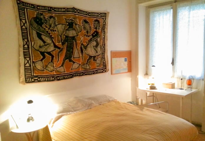 ''AKIKI house'' the room with 120cm italy one place and half bed.