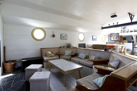 Magnifique péniche Freycinet aménagée sur 110 m2 - Mézy-sur-Seine - Vaixell