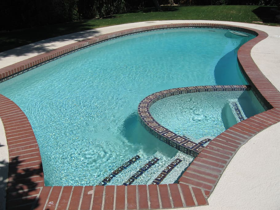 private 30 ft. pool and spa.