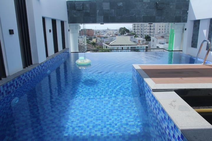 ♥Nice & cozy room w/Rooftop Pool D2♥