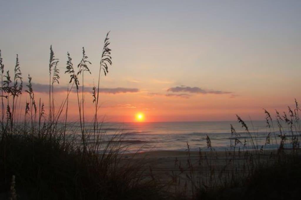 Sunsets on a beautiful Sand Key beach