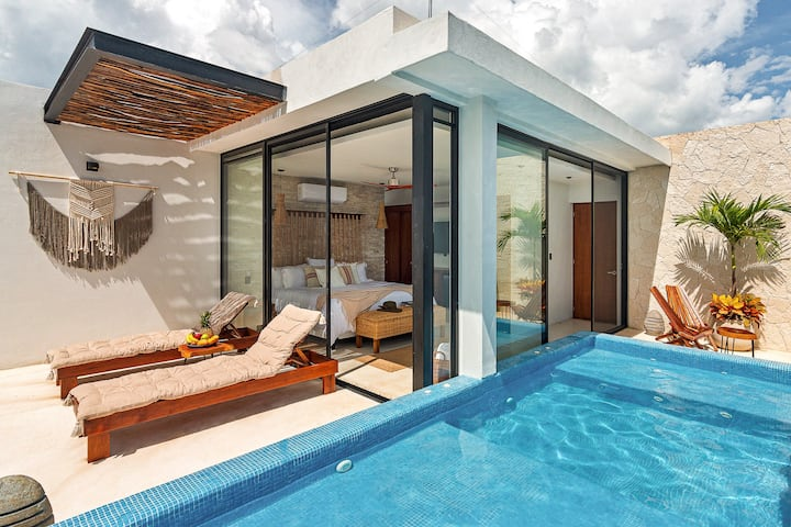 Relax in your suite with private pool in Tulum