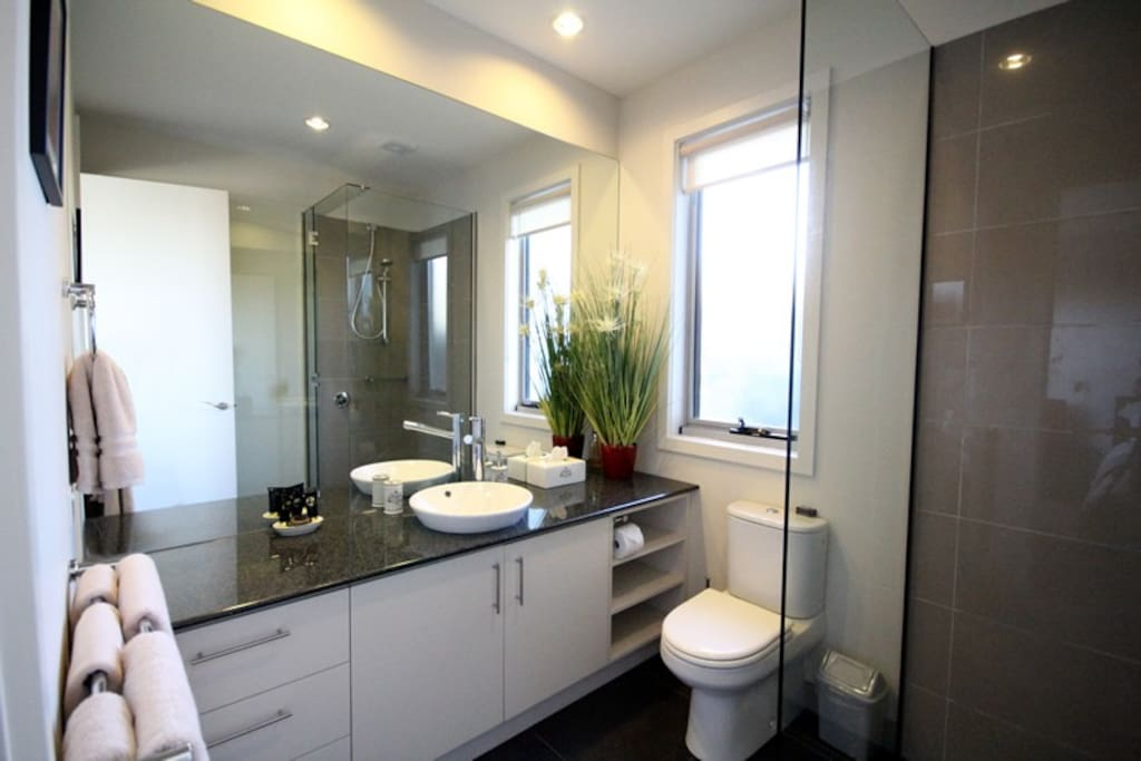 Luxury appointed bathroom