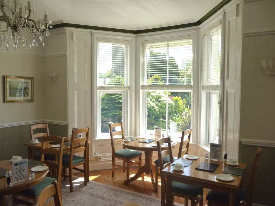 Lovely breakfast served in our Dining Room