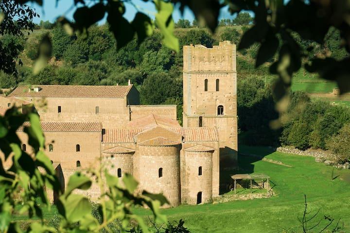 San Giusto Abbey { medieval Tower } - Tuscania (VT) - Castle