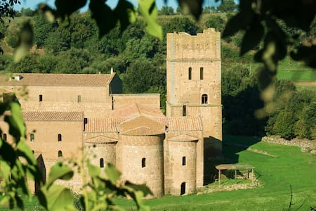 San Giusto Abbey { medieval Tower } - Tuscania (VT) - Slot