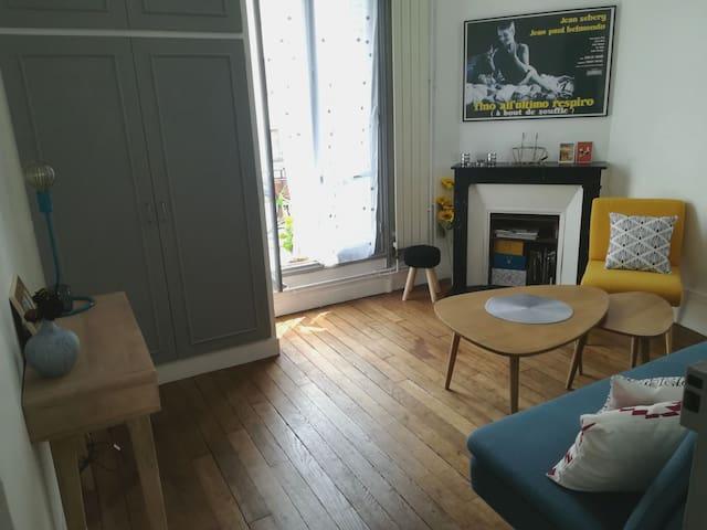 T2 charmant et typique  appartement parisien