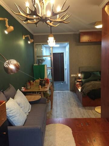美式小公寓舒服到爆适合两个人!温馨自在设施齐全!我是最善良的房东。 - 芜湖 - อพาร์ทเมนท์