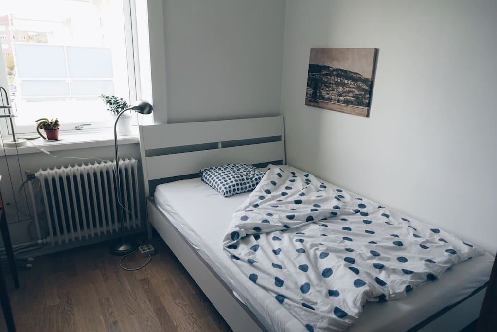 The guest room - 140 cm bed, good for two people
