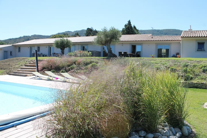 Air-conditionned villa with spa pool quiet calm - Labastide-en-Val - Dom