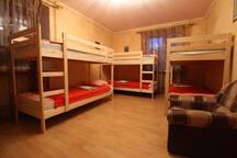 Общая комната на 6 чел.