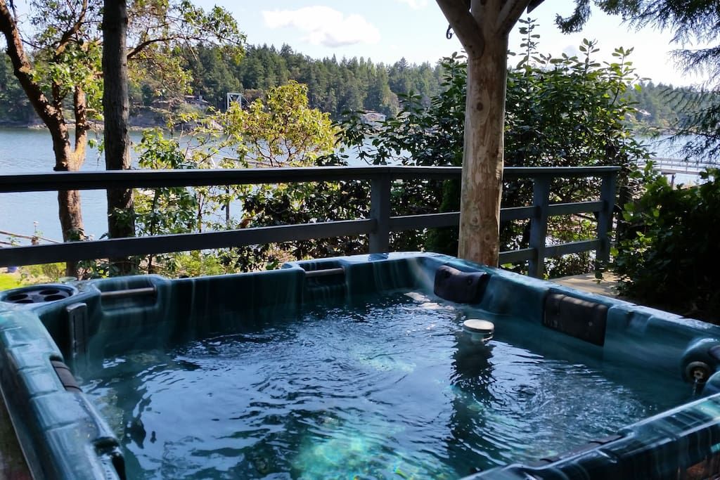 Have a soak in our hot tub