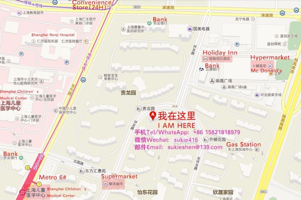 联系方式、位置和周边设施 Location & surroundings