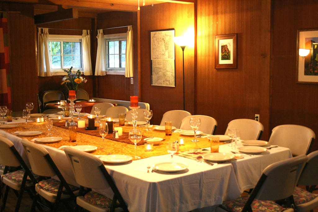 Our beautiful dining room in the Lodge
