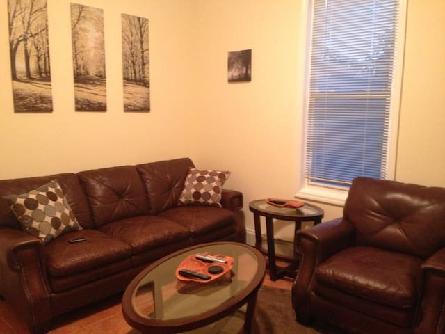 leather living room set