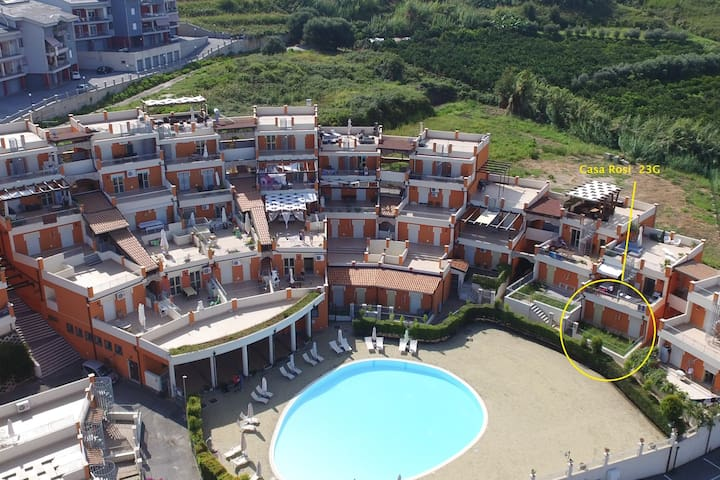 Villa Rosi | Large Covered terrace with BBQ