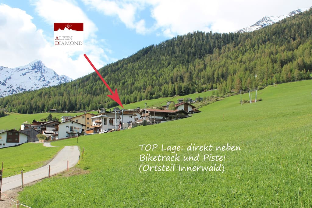 perfectly located in district of Innerwald just beside bike track and ski slopes